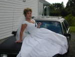 Don't mess with a bride holding a tire iron!