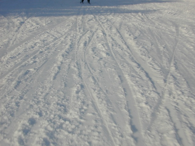 Skiing while trying to take pictures is hard.
